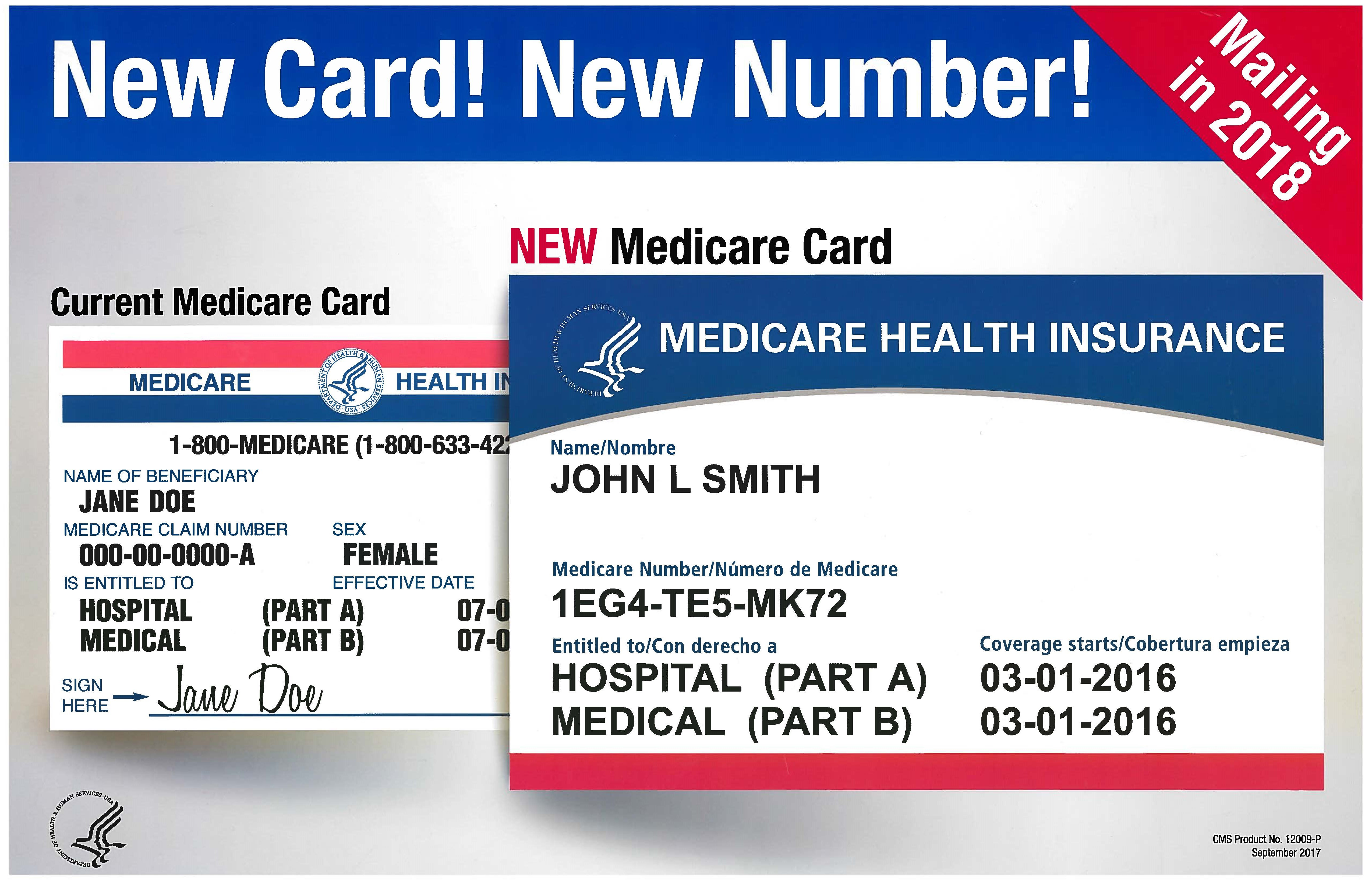 New Medicare Card New Number Poster 11 X 17 Elder Services